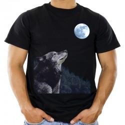 T-shirt z wilkiem