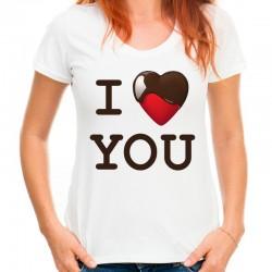 koszulka damska I LOVE YOU