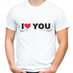 koszulka męska I LOVE YOU 3D