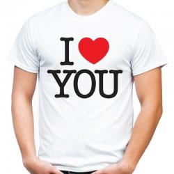koszulka męska I LOVE YOU