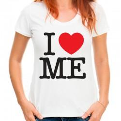 koszulka damska I LOVE ME