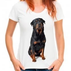 koszulka damska z psem