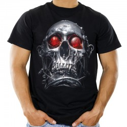 Koszulka męska z czaszką terminatora
