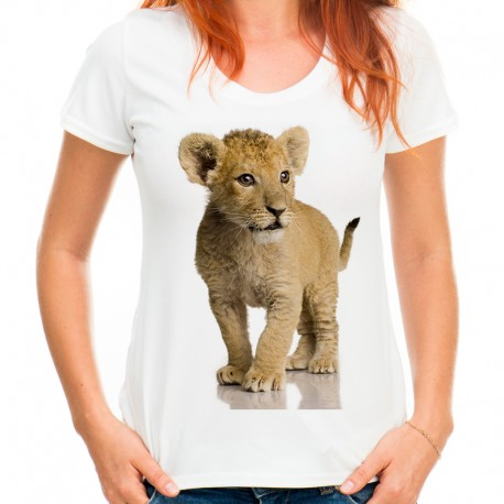 bluzka damska z małym lwem