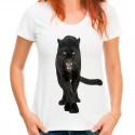 koszulka damska  z dzikim kotem