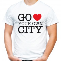 Koszulka go love your own city
