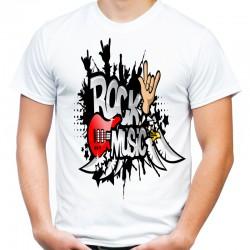 koszulka z napisem rock music