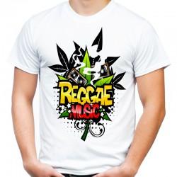 koszulka z napisem reggae music