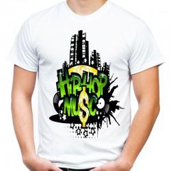 koszulka z napisem hip hop music