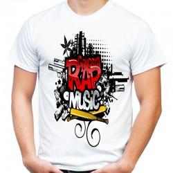 koszulka z napisem rap music