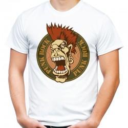 koszulka z napisem punk rock