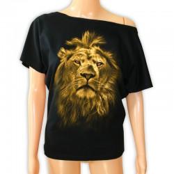 tunika damska czarna z głową lwa