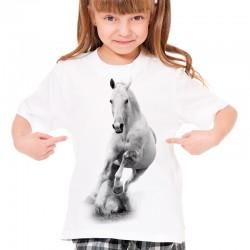Koszulka dziecięca z białym koniem