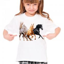 Koszulka dziecięca z końmi