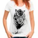 koszulka z  kotem  tygrysem damska