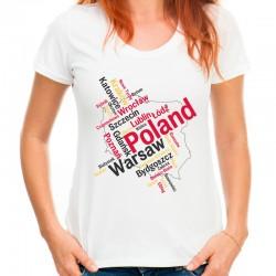 Koszulka Polska mapa