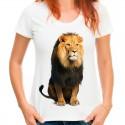koszulka z lwem damska