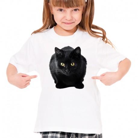 koszulka z czarnym kotem