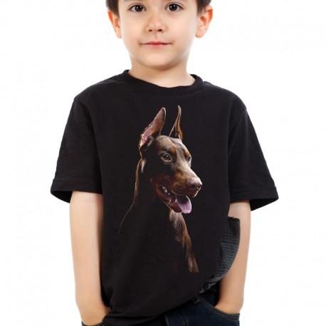 Koszulka dziecięca z Dobermanem