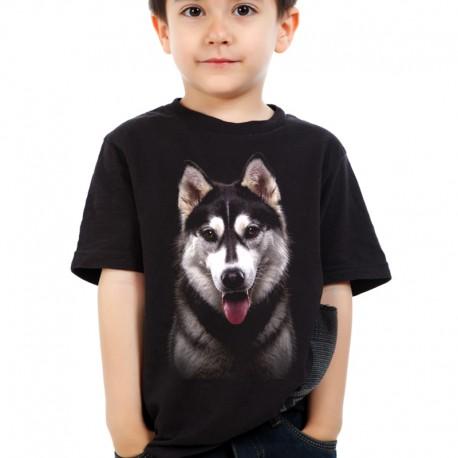 Koszulka dziecięca z Huskym Syberyjskim