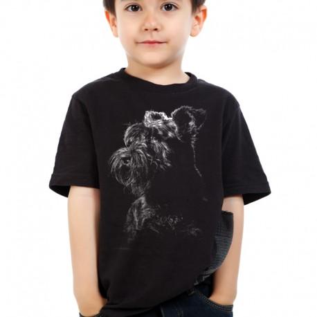Koszulka dziecięca ze Sznaucerem Olbrzymem