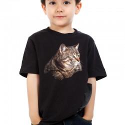 Koszulka dziecięca z kotem