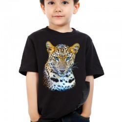 Koszulka dziecięca z leopardem