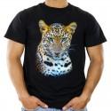 Koszulka męska z leopardem