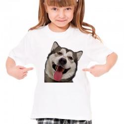 Koszulka z psem Husky