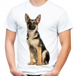T-shirt  z owczarkiem niemieckim