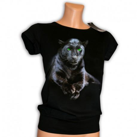 czarna tunika z kotem