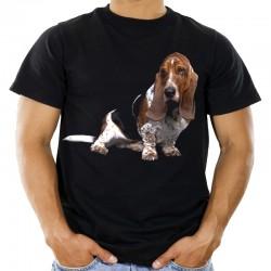 Koszulka z Bassetem Hound