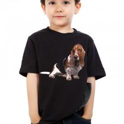 Koszulka dziecięca z psem Basset Hound