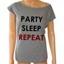 Koszulka Party Sleep Repeat