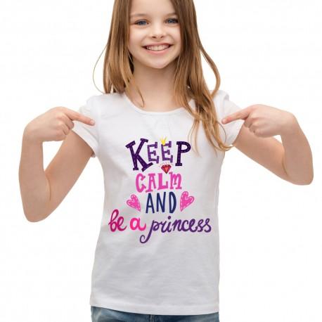 Koszulka dla dziewczynki keep calm and be a princess