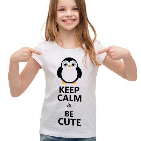 Koszulka dla dziewczynki keep calm and be cute