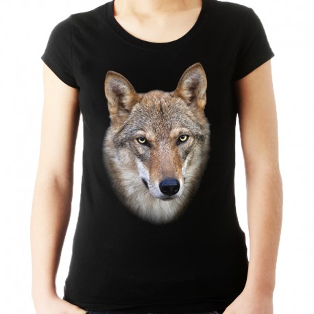 Koszulka damska z wilkiem
