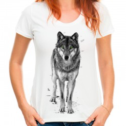 Bluzka damska z wilkiem