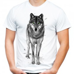 Koszulka męska z wilkiem