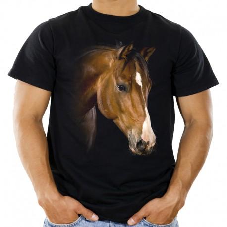 Koszulka jeździecka z głową konia