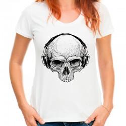 Koszulka damska z czaszką w słuchawkach