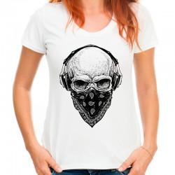 Koszulka damska z czaszką w czapce 13