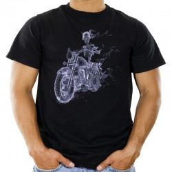 Koszulka męska z dymnym szkieletem