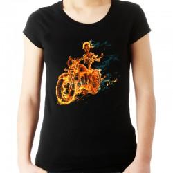 Koszulka damska z płonącym szkieletem