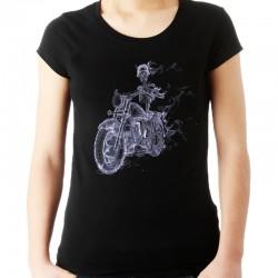 Koszulka damska z dymnym szkieletem