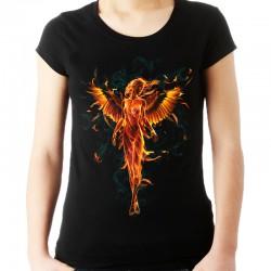 Koszulka damska z płonącym aniołem