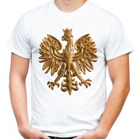T-shirt z orłem złotym