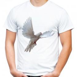 Koszulka z białym gołębiem