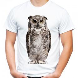 t-shirt z sową