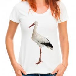 koszulka z bocianem